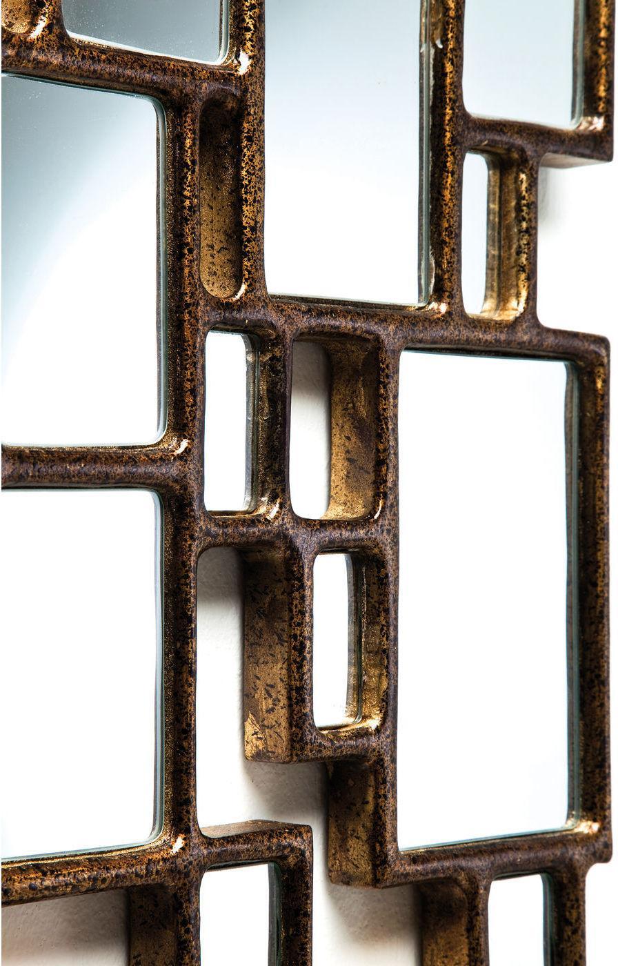 kare design spiegel cubes 132x54cm koper. Black Bedroom Furniture Sets. Home Design Ideas